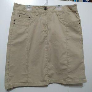 Like New Khaki Skirt